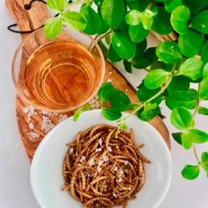 Ristede Melorme Salt & Vinegar 25g | Spiselige insekter